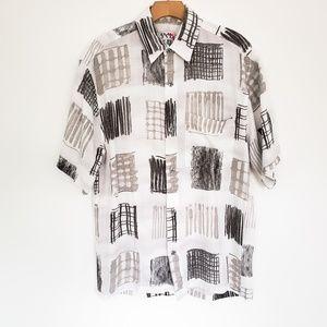 JAMS WORLD Condominium Geo Print Shirt